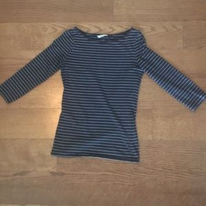H&M striped 3/4 sleeve shirt